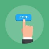 Tema del Domain Name, estilo plano, colorido, icono del vector ilustración del vector