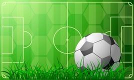 Tema del fútbol Imagen de archivo libre de regalías