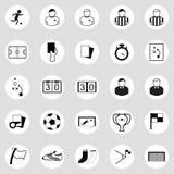 Tema del fútbol Foto de archivo libre de regalías