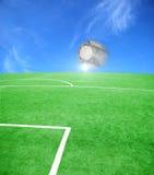 Tema del fútbol o del balompié Imágenes de archivo libres de regalías