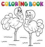 Tema 1 del flamenco del libro de colorear ilustración del vector