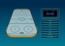 Tema del hockey sobre hielo Fotografía de archivo libre de regalías