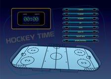 Tema del hockey sobre hielo Fotografía de archivo