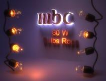 tema del MbC della Lampadina-corda 60w- Immagine Stock Libera da Diritti