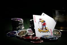 Tema del póker imágenes de archivo libres de regalías