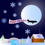 Tema del paisaje de la nieve de la Navidad Imagen de archivo libre de regalías
