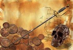 Tema 2 del pirata Fotografia Stock Libera da Diritti