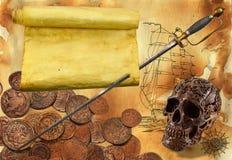 Tema 1 del pirata Immagine Stock