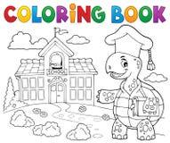 Tema 2 del profesor de la tortuga del libro de colorear Imagen de archivo