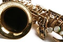 Tema del saxofón Fotografía de archivo libre de regalías