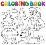 Tema 2 del silvicoltore del libro da colorare royalty illustrazione gratis