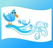 Tema del Twitter illustrazione vettoriale
