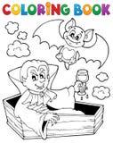 Tema 1 del vampiro del libro de colorear Fotografía de archivo libre de regalías