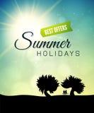 Tema del verano del cartel, estilo de vida sano Fotografía de archivo libre de regalías