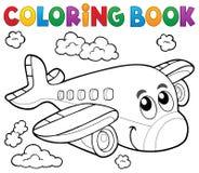 Tema 2 dell'aeroplano del libro da colorare Immagine Stock Libera da Diritti