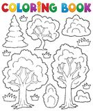 Tema 1 dell'albero del libro da colorare Fotografia Stock Libera da Diritti