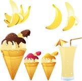 Tema della banana Fotografia Stock Libera da Diritti