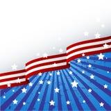 Tema della bandierina degli S.U.A. illustrazione vettoriale