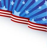 Tema della bandierina degli S.U.A. Immagine Stock