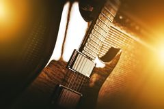 Tema della chitarra elettrica Immagini Stock Libere da Diritti
