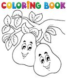 Tema 2 della frutta del libro da colorare Immagine Stock Libera da Diritti