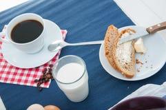 Tema della luce morbida della prima colazione con l'uovo Immagini Stock Libere da Diritti