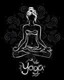 Tema della meditazione e dell'yoga illustrazione di stock