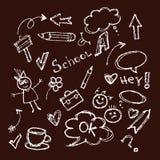 Tema della scuola in gesso Fotografie Stock