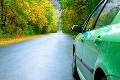 tema della strada di autunno Fotografie Stock