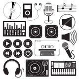 Tema delle icone di musica di Digital Fotografia Stock
