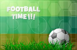 Tema di calcio con la bandiera russa Fotografie Stock