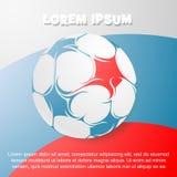 Tema di calcio con la bandiera russa sul contesto Immagini Stock Libere da Diritti