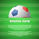 Tema di calcio con lo spazio della copia sul contesto Immagine Stock Libera da Diritti