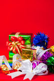 Tema di celebrazione con i regali del nuovo anno & di natale Immagine Stock Libera da Diritti