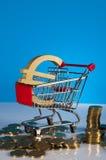 Tema di Finacial con fondo luminoso Fotografie Stock