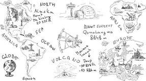 Tema di geografia illustrazione di stock