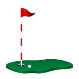 Tema di golf Fotografia Stock