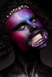 Tema di Halloween e del pagliaccio Fotografia Stock Libera da Diritti