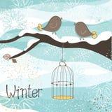 Tema di inverno Fotografia Stock Libera da Diritti