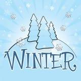 Tema di inverno Fotografie Stock Libere da Diritti