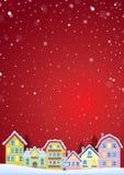 Tema di inverno con l'immagine 4 della città di Natale Immagine Stock