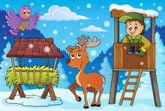 Tema 3 di inverno del silvicoltore royalty illustrazione gratis