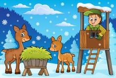 Tema 2 di inverno del silvicoltore illustrazione di stock