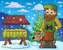 Tema 5 di inverno del silvicoltore illustrazione di stock