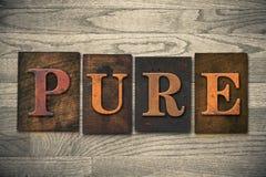 Tema di legno puro dello scritto tipografico Fotografia Stock