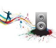 Tema di musica Immagine Stock Libera da Diritti