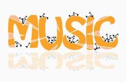 Tema di musica Immagini Stock Libere da Diritti
