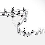 Tema di musica Fotografia Stock
