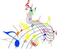 Tema di musica Immagini Stock