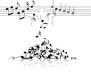 Tema di musica Immagine Stock
